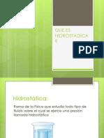 Que Es Hidrostadica (1)