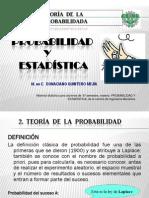 2.PRESENTACIÓN. TEORIA  DE LA PROBABILIDAD.2013