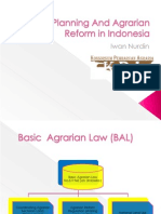 Spatial Planning and Agrarian Reform in Indonesia