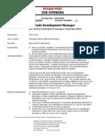 Cleveland Hopkins International Airport - Air Trade Development Manager
