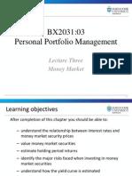 3 - Lecture Three - Money Market FINAL