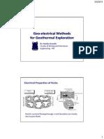 Geoelctrical Method for Geothermal Eksplorations