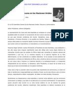 Ernesto Che Guevara - Discurso en Las Naciones Unidas