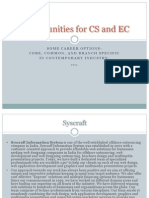 Opportunities for CS and EC