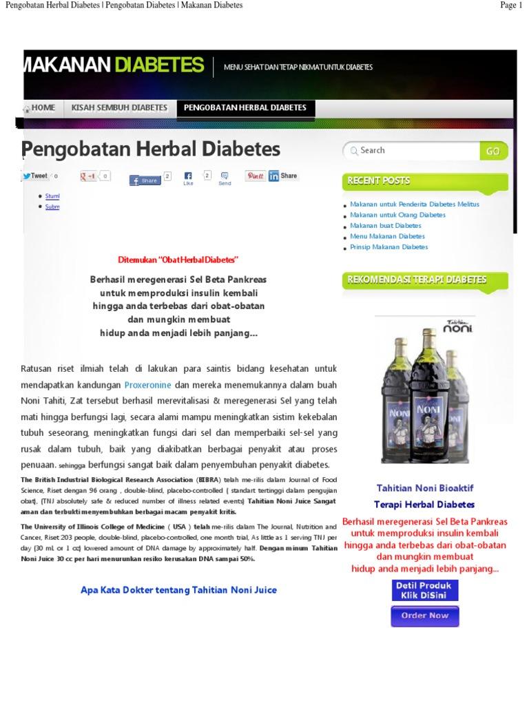 Herbal Untuk Diabetes Noni Tahitian 1 Botol