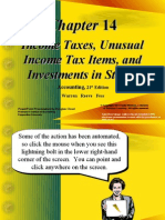 Income Taxes, Unusual Income Tax Items, And Investments in Stocks