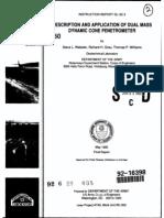 Description and Application of Dual Mass Dynamic Cone Penetrometer by Webster Et Al