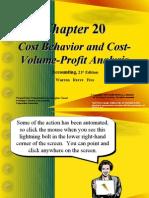 Cost Behavior and CostVolume-Profit Analysis