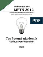 Pembahasan Soal SNMPTN 2012 Tes Potensi Akademik (Penalaran Geometris) Kode 613