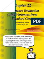 Performance Evaluation Using Variances From Standard Costs