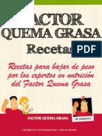Factor Quema Grasa Recetas