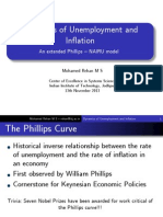 Dynamics of Unemployment and Inflation