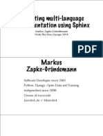 Writing Multi-language Documentation Using Sphinx
