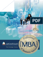 HCT Professional MBA Brochure