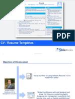 Resume / CV templates in editable Powerpoint