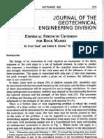 Hoek1980 Empirical Strength Criterion for Rock Masses