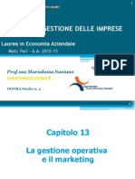 13. La Gestione Operativa e Il Marketing