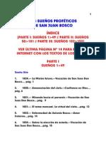 indices sueños de San Juan Bosco