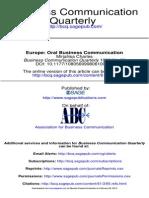 Business Communication Quarterly 1998 Charles 85 93
