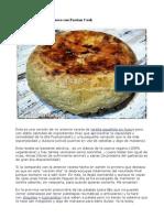 Tortilla de Patatas Sin Huevo Con Fussion Cook