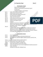 Adamjee Coaching Centre Preparation Paper for Computer Studies IX