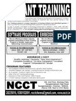 Ncct - In Plant Training Program Details 2012 - 2013, Ipt Software and Embedded Programs