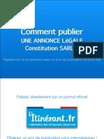 Publication Annonce-legale Constitution