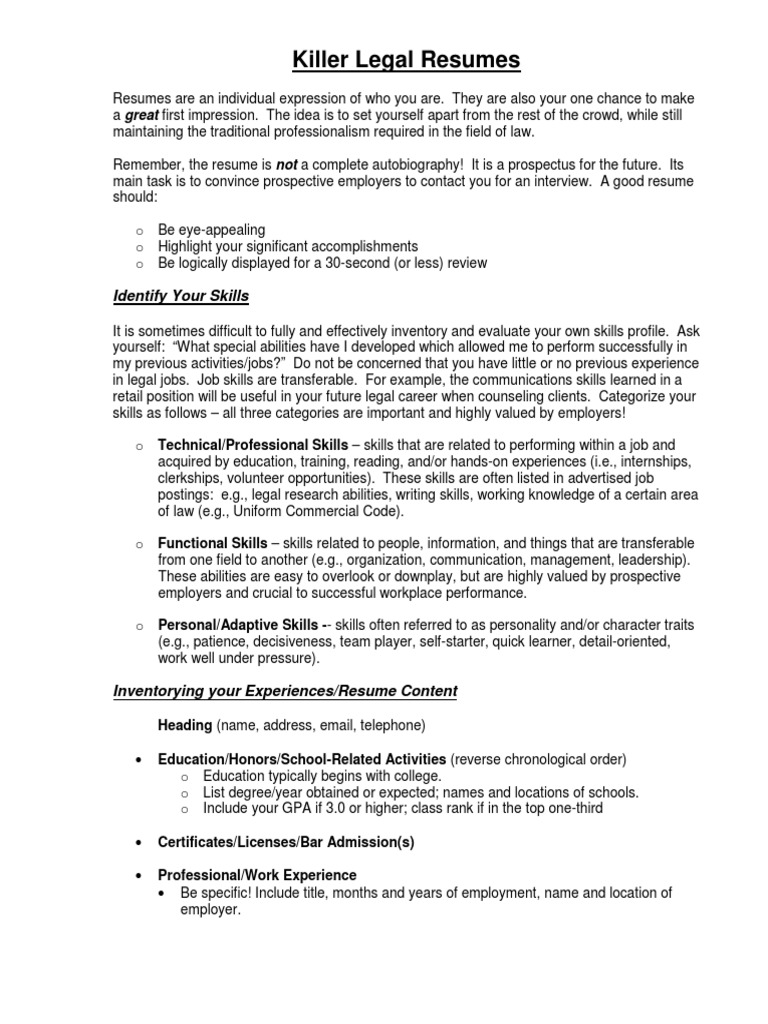 Cool Include Personality Traits Resume Images - Entry Level Resume ...