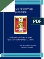 I.E. N° 3045 José Carlos Mariategui La Chira