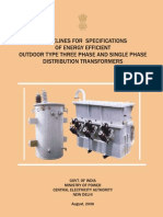 Government of India Specifications on Distribution Transformer