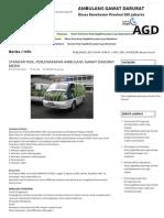 Ambulans Gawat Darurat - Dinas Kesehatan Dki Jakarta (Agddinkes) @ Agddinkes