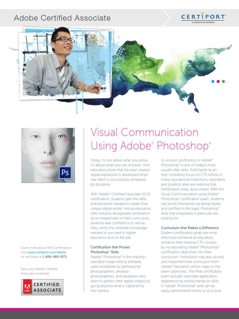 Aca Photoshop Datasheet 2013 Adobe Photoshop Test Assessment