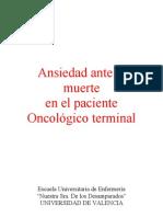 Anon - Ansiedad Ante La Muerte en El Enfermo Oncologico Terminal