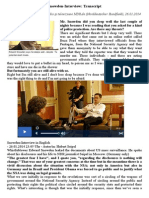 Interviu Snowden - Ianuarie 2014