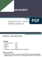 Project Management Lecture1