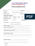 Staff Leave Application Form