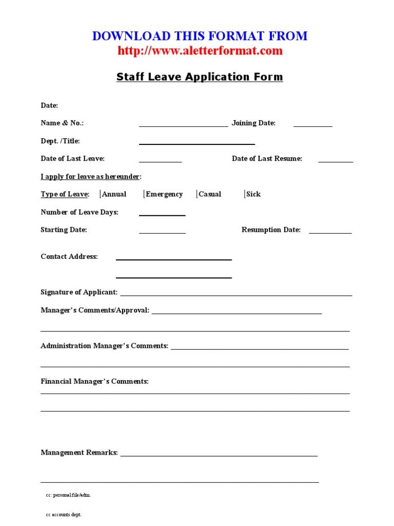 1521363038?vu003d1  Annual Leave Application Form