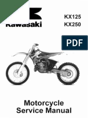 Remarkable Kawasaki Kx125 Kx250 Service Manual Repair 1999 2000 2001 Bralicious Painted Fabric Chair Ideas Braliciousco