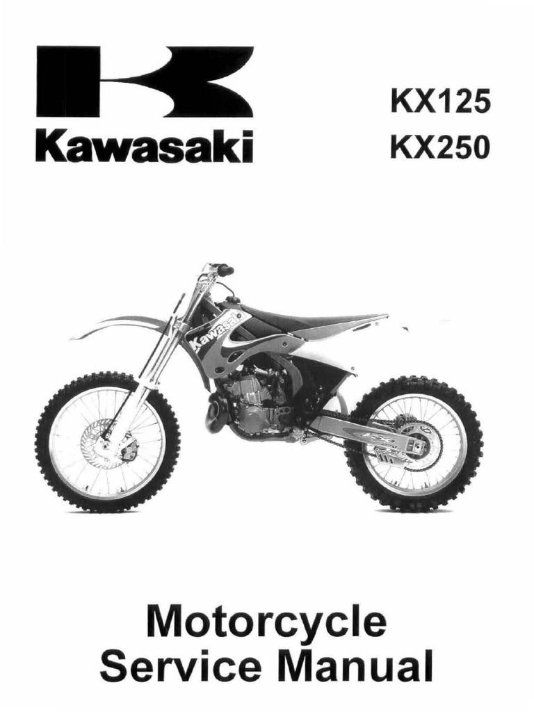 Kawasaki-KX125-KX250-Service-Manual-Repair-1999-2000-2001