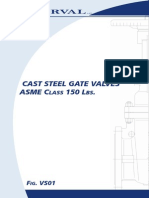 Cast Steel Gate Valve - VS01 [ASME 150]