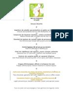 Menu Paques 2014 La Salvetat Hotel Restaurant Dordogne Perigord