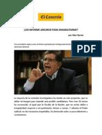 Un Informe Absurdo Para Inhabilitarme - Diario El Comercio 31 de Marzo