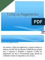 Folha de Pagamento - Regras de Negócio 2013