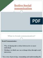 Effective Social Communication