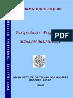 PG Information Brochure iit roorkee