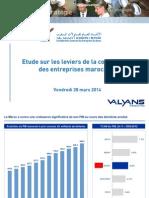 CGEM Etude sur les leviers de la compétitivité des entreprises marocaines