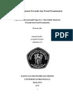 Soal Akuntansi Forensik dan Fraud Examination #2