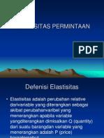 ELASTISITAS PERMINTAAN