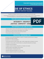Code of Ethics Nt Teachers