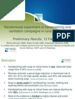 WSP Handwashing and Sanitation Results